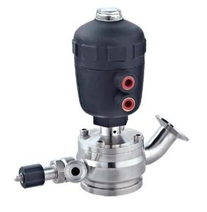 Pneumatic radial tank bottom valve + disinfection