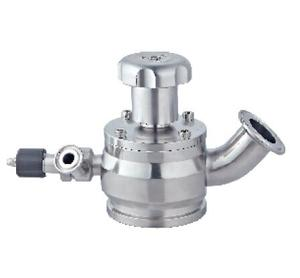 Manual radial tank bottom valve + disinfection